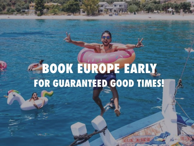 Get a $100 Free-Time voucher on Contiki's Europe 2019 Preview