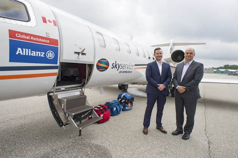 "Allianz ""flying ICU"" provides urgent care to injured Canadians"