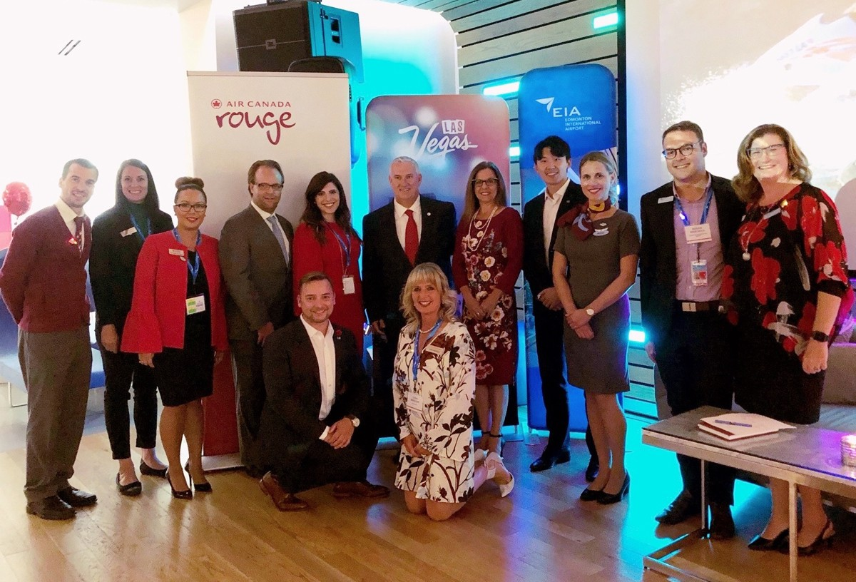 Air Canada & LVCVA celebrate new Vegas route at YEG