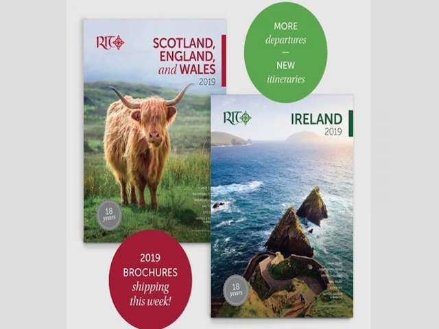 Royal Irish Tours' 2019 brochures now available