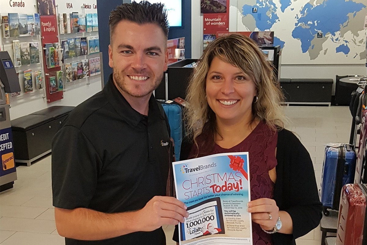 An Edmonton winner emerges from TravelBrands Loyalty Rewards contest