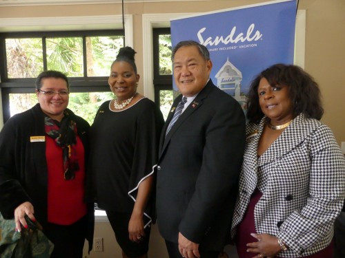 Sandals shows appreciation in Vancouver