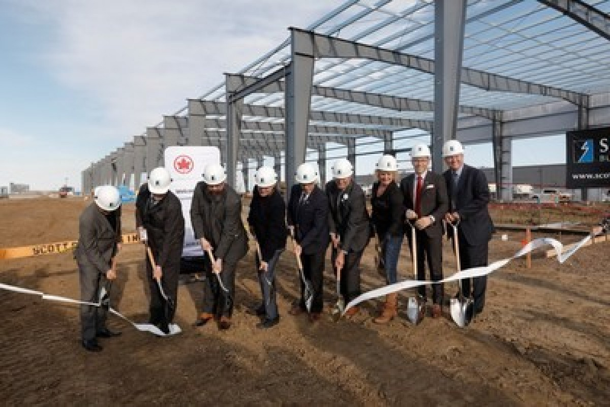 Air Canada breaks ground at YEG for new cargo facility