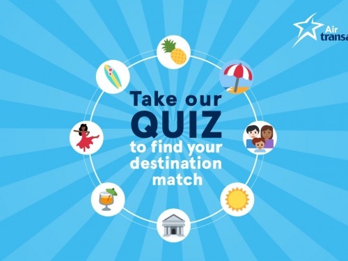 Click and Win a vacation with Air Transat