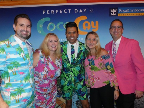 Royal Caribbean threw a costume party in Vancouver last night