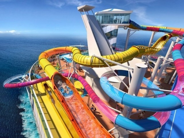 RCI is making the world's longest water slide at sea