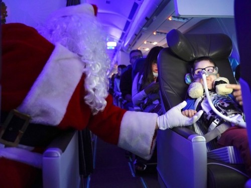 Air Transat & Children's Wish Foundation's Flight with Santa Claus a success