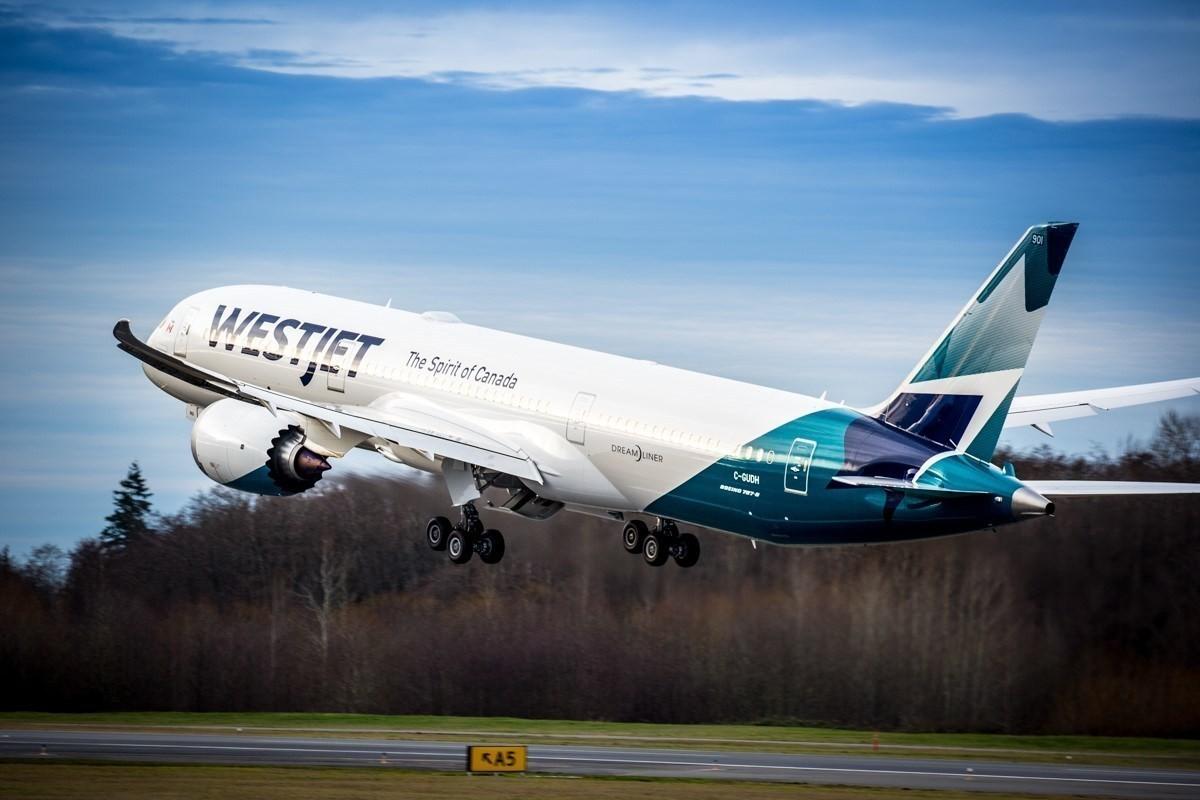 WestJet just got its very first Boeing 787 Dreamliner