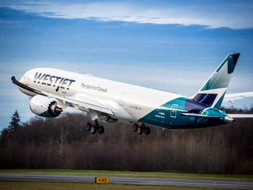 WestJet just got its very first Boeing 787 Dreamliner