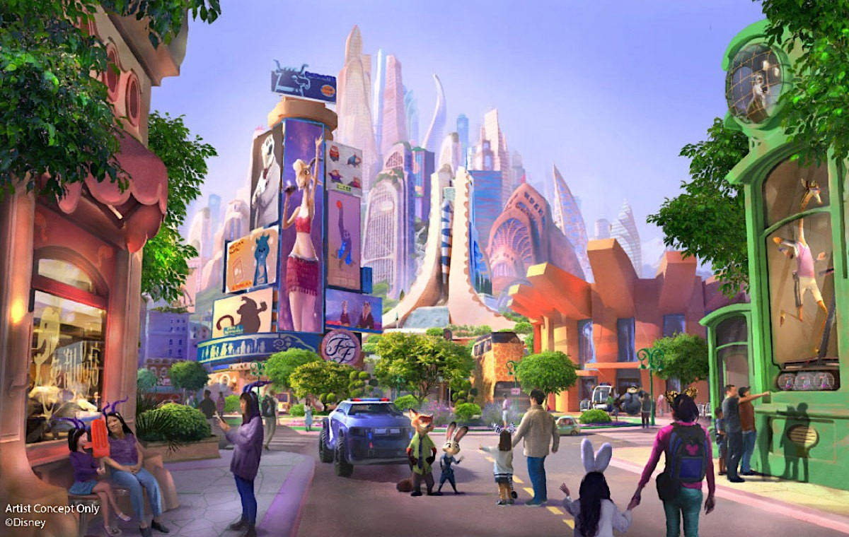 A Zootopia-themed park is coming to Disneyland Shanghai