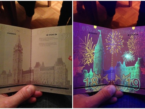 Here's why your passport glows in the dark