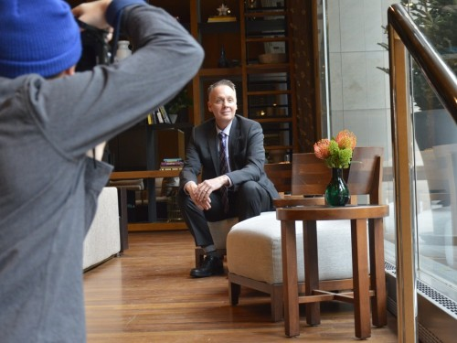 Behind the scenes with Ron Lonsdale in our April mag shoot