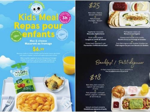 Air Transat brings new meals, kids perks on board