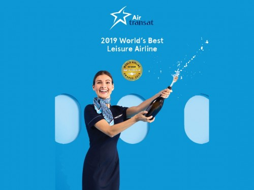 Air Transat wins title of World's Best Leisure Airline