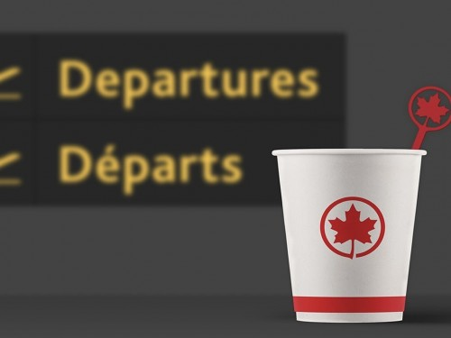 Air Canada officially phases out plastic stir sticks