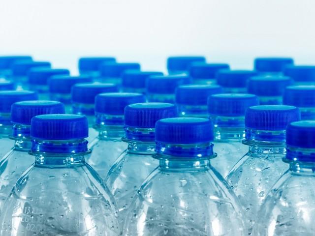 Plastic water bottles depart from SFO
