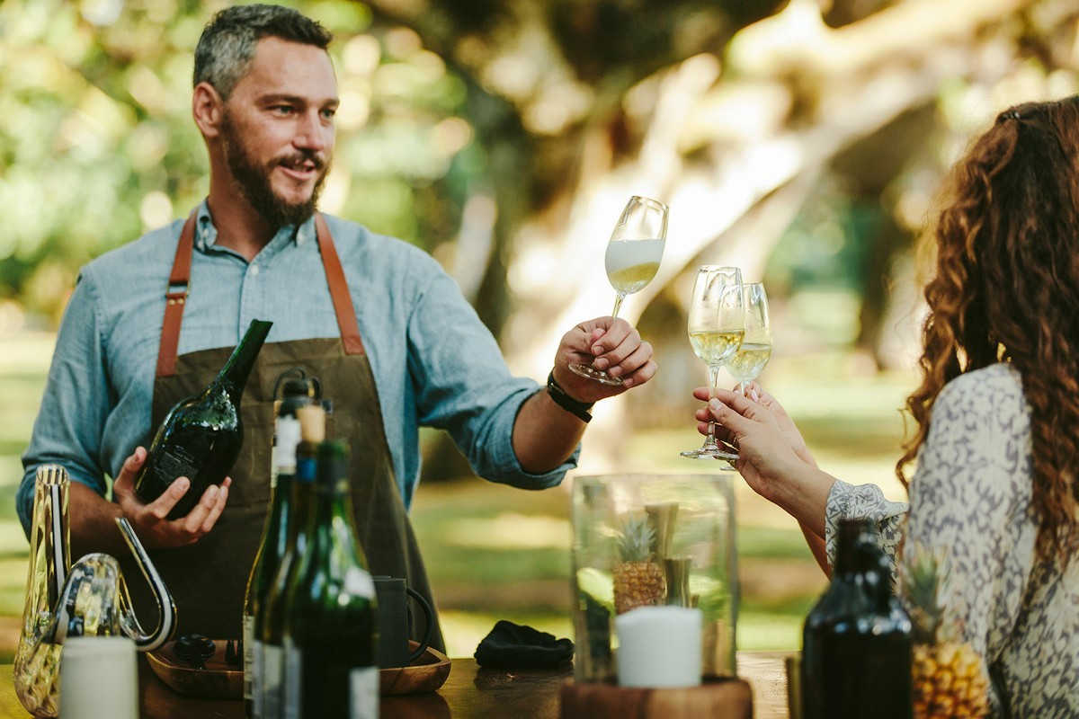 A taste of Fire & Wine offered at Four Seasons Resort Maui at Wailea