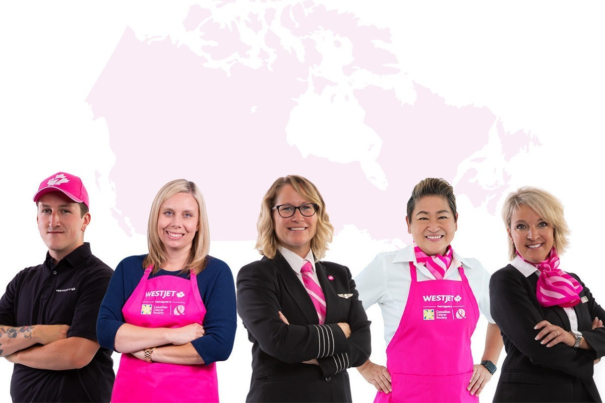 WestJet paints the skies pink in support of breast cancer awareness