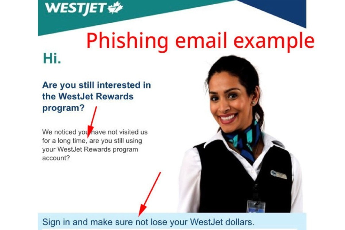 WestJet warns public about email phishing scam