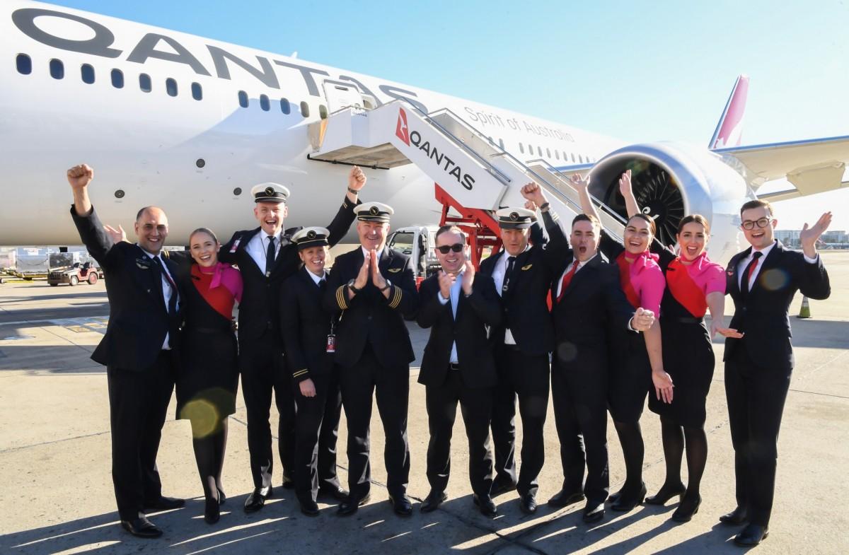 Qantas' successfully tests Sydney-New York service