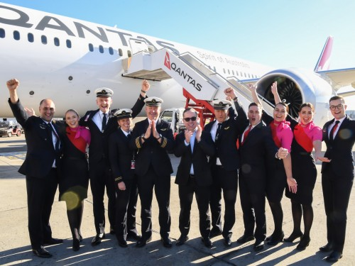 Qantas' successfully tests Sydney-New York service
