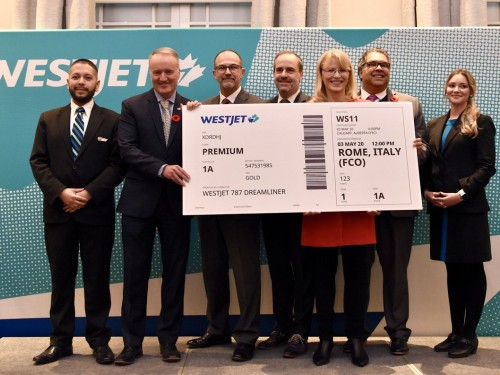 Buongiorno! WestJet announces direct non-stop seasonal service from Calgary to Rome