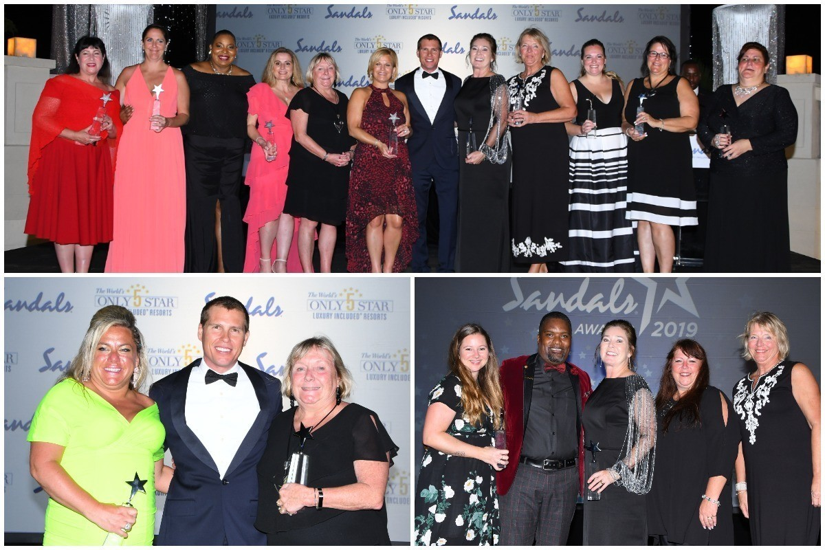 The S.T.A.R.s shine at Sandals' annual awards