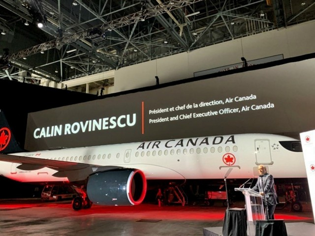 A first look at Air Canada's new A220-300 aircraft