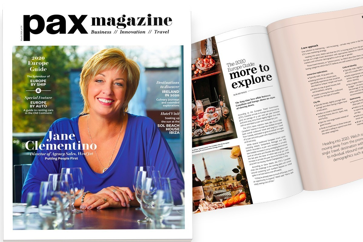 Jane Clementino of WestJet lands on PAX magazine's March cover!