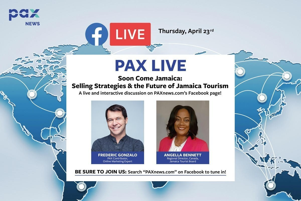 Selling strategies & the future of Jamaica tourism: FB Live chat today (April 23), Noon (PST)
