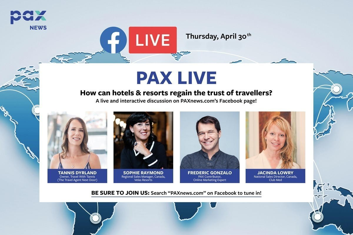 How can hotels & resorts regain the trust of travellers? FB Live today (April 30), 10 a.m. (Pacific)