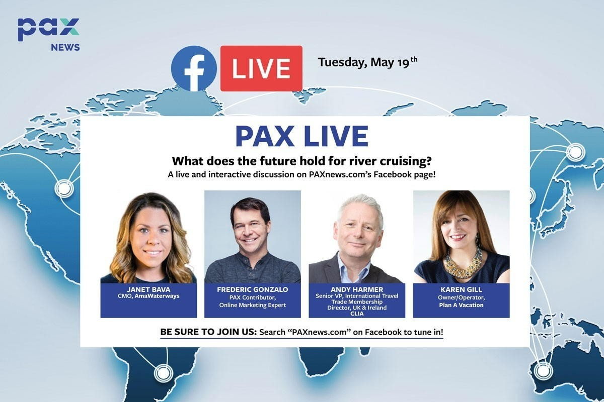 What does the future hold for river cruising? FB Live today, May 19th, 11 a.m. (Pacific)