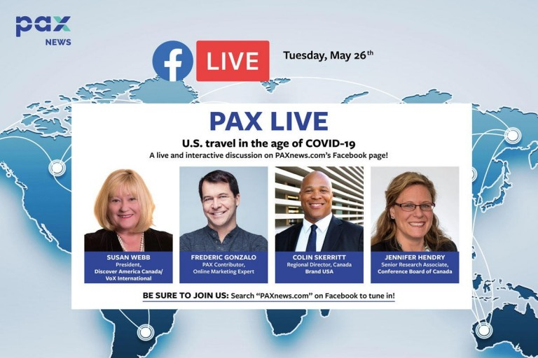 U.S. travel in the age of COVID-19. FB Live today, Tues., May 26, 11 a.m. (Pacific)