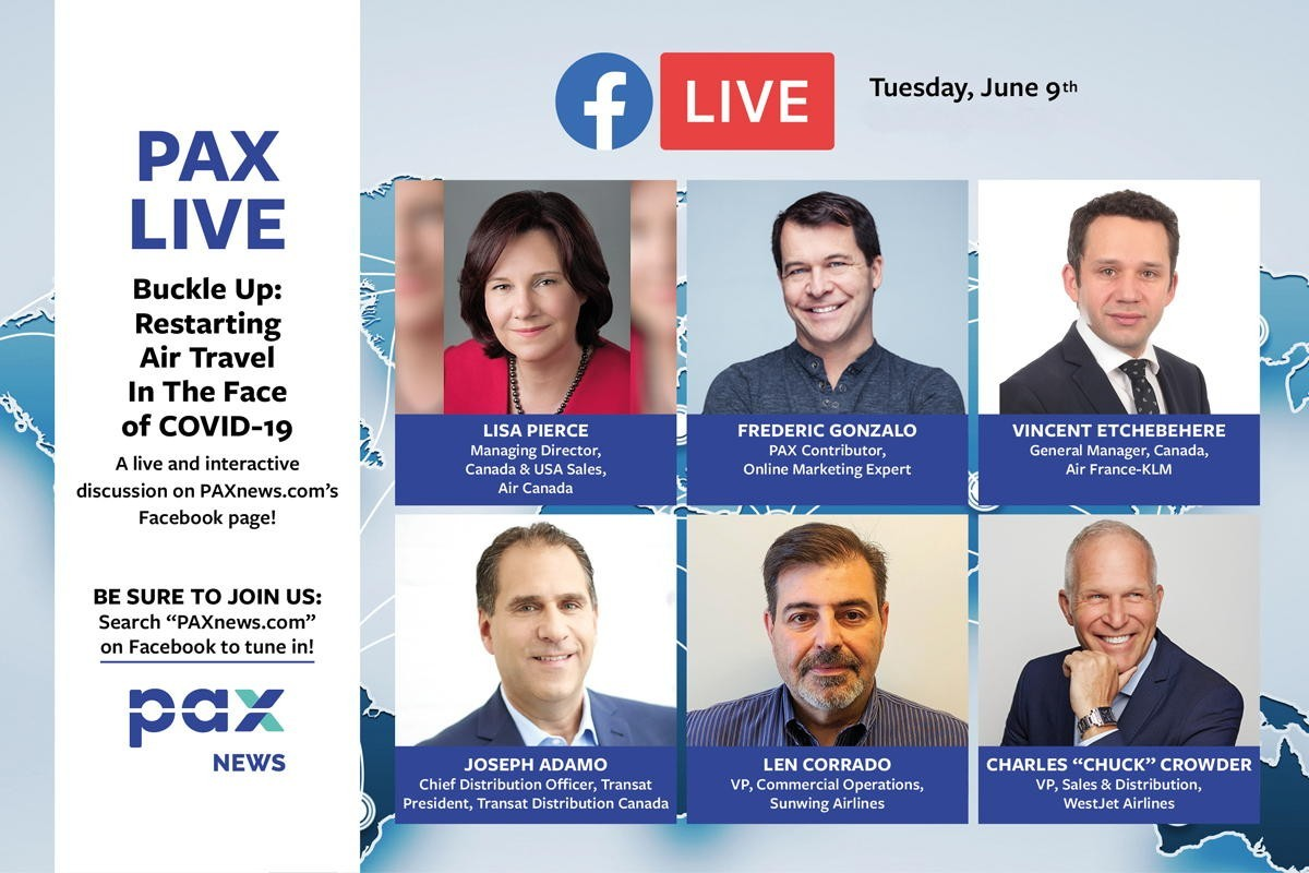 Buckle up: Restarting air travel in the face of COVID-19. FB Live: today (June 9th) 11 a.m. (PST)