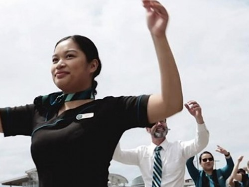 VIDEO: Westjet crew stage high-energy flashmob at YVR